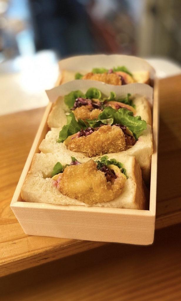 鱧のサンドイッチ(柴漬けタルタルソース)